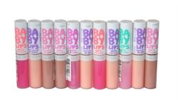 11 x Maybelline Baby Lips Moisturizing Lip Gloss | Mixed Shades |